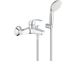 Смеситель для ванны Grohe Eurosmart 3330220A (хром глянец, с душевым комплектом)