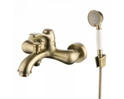 Смеситель для ванны Iddis Oldie OLDBR00i02 (бронза, с душевым комплектом)