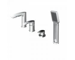 Смеситель для ванны на 4 отверстия Iddis Vane VANSB40I07 (хром глянец, врезной на борт ванны)