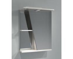 Зеркало-шкаф Какса-А Астра 55 55 см. 001837 (белое, правое, с подсветкой)