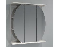 Зеркало-шкаф Какса-А Шар 65 65 см. 003209 (белое, без подсветки)