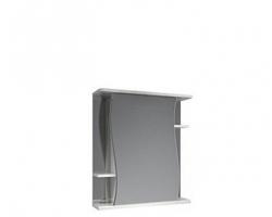 Зеркало-шкаф Какса-А Волна 62 62 см. 002788 (белое, без подсветки)