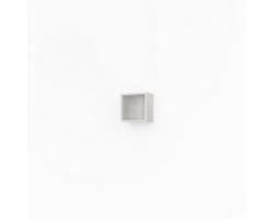 Полка кубик Какса-А Кристалл 30 30 см. 3999 (белая, подвесная, открытая)