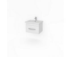 Тумба Какса-А Квадро 50 50 см. 4133 (белая, подвесная, один ящик)