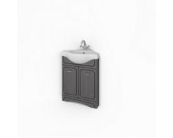 Тумба Какса-А Патина 53 53 см. 4534 (серая с черным, напольная, угловая, две двери)