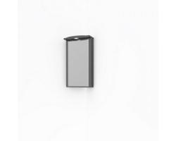 Зеркало-шкаф Какса-А Патина 65 65 см. 4535 (серый с черным, угловой)