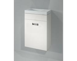Тумба с раковиной Какса-А Пикколо 40 40 см. 003721 (белая, подвесная, одна дверь)