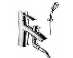 Смеситель для ванны Lemark Atlantiss LM3215C (хром глянец, с душевым комплектом, врезной на борт ванны)
