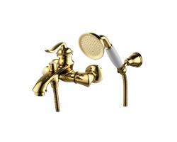 Смеситель для ванны Lemark Brava LM4712G (золотой, с душевым комплектом)