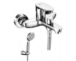Смеситель для ванны Lemark Nero LM0214C (хром глянец, с душевым комплектом)