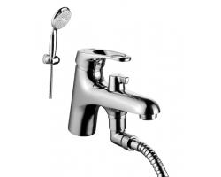Смеситель для ванны Lemark Omega LM3115C (хром глянец, с душевым комплектом, врезной на борт ванны)