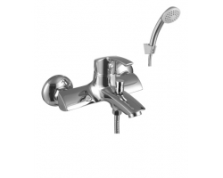 Смеситель для ванны Lemark Plus Strike LM1102C (хром глянец, с душевым комплектом)