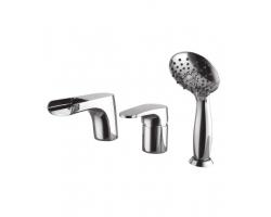 Смеситель для ванны на 3 отверстия Lemark Shift LM4345C (хром глянец, врезной на борт ванны)