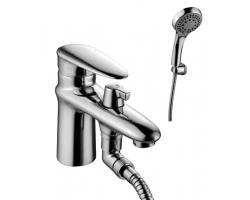Смеситель для ванны Lemark Status LM4415C (хром глянец, с душевым комплектом, врезной на борт ванны)