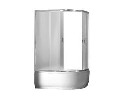 Душевой уголок Loranto CS-1285 SK L 100х80 (левый, матовое стекло, высокий поддон)