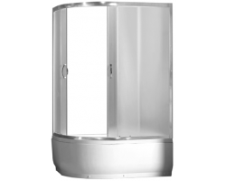 Душевой уголок Loranto CS-1285 SK R 100х80 (правый, матовое стекло, высокий поддон)