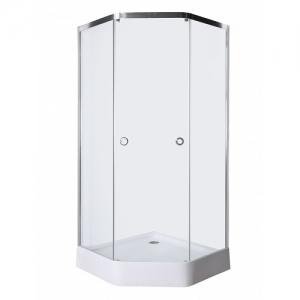 Душевой уголок Luxus L015 Hardy 90х90 (прозрачное стекло, низкий поддон)