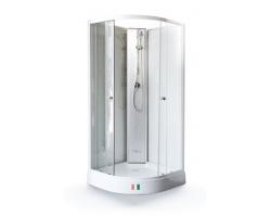 Душевая кабина Maroni Arezzo WLRF-022S 90х90 (прозрачное стекло, низкий поддон, без крыши)