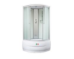 Душевая кабина Maroni Bergamo WD-003S 90х90 (прозрачное стекло, высокий поддон, с крышей)
