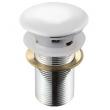 Донный клапан Melana MLN-TB20 (белый, для раковины с переливом, click-clack)