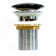 Донный клапан Melana MLN-T201B (чёрный, для раковины без перелива, click-clack)