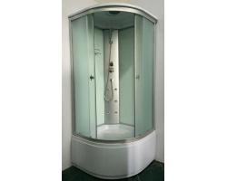Душевая кабина Niagara NG-2308-14G 90х90 (матовое стекло, высокий поддон, с крышей и гидромассажем)