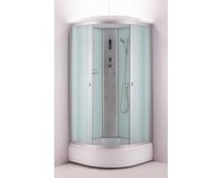 Душевая кабина Niagara  NG 3317-14 90х90 (матовое стекло, средний поддон, с крышей и гидромассажем)