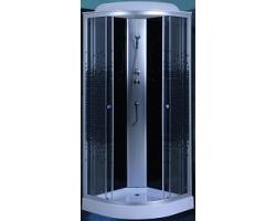 Душевая кабина Niagara NG-4501-08 90х90  (тонированное стекло с мозаикой, низкий поддон, с крышей, без гидромассажа)
