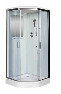 Душевая кабина Niagara Premium NG-6002-01D 100x100 (прозрачное стекло, низкий поддон, с крышей без гидромассажа)
