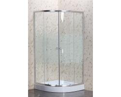 Душевой уголок Niagara NG-001-08N 90х90 (прозрачное стекло с мозаикой, низкий поддон)