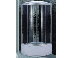 Душевая кабина Niagara NG-7507-14 80х80 (тонированное стекло мозаика, высокий поддон, с крышей, без гидромассажа)