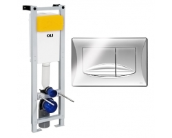 Инсталляция для подвесного унитаза Oli 80 Quadra 280490mRi00 (клавиша Oli River 638504 (хром глянец))