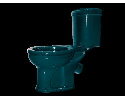 Унитаз напольный Оскольская керамика Дора 47325110212 (антивсплеск, зелёный)