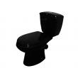 Унитаз напольный Оскольская керамика Элисса 43374110212 (антивсплеск, чёрный)
