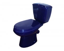 Унитаз напольный Оскольская керамика Элисса 43355110212 (антивсплеск, синий)