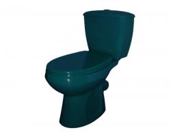 Унитаз напольный Оскольская керамика Элисса 43325110212 (антивсплеск, зелёный)