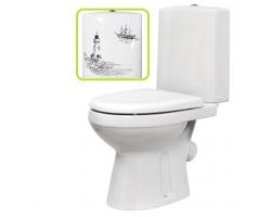 Унитаз напольный Оскольская керамика Леда Люкс Декор 45901110021