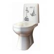 Унитаз напольный Оскольская керамика Лея Премиум Декор 41301110325 (микролифт)