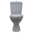 Унитаз напольный Оскольская керамика Суперкомпакт 44970110402 (антивсплеск, серый металлик)