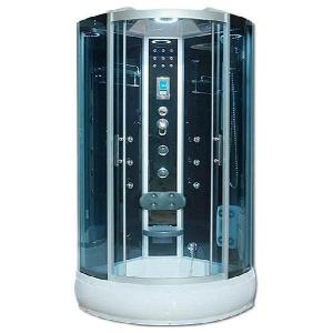 Душевая кабина River Temza 90/26 ТН 90х90 (тонированное стекло, низкий поддон с гидромассажем)