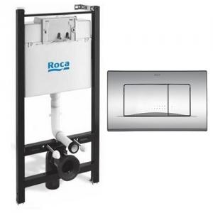 Инсталляция для подвесного унитаза Roca Active WC A890110015 и клавиша Roca Plate 32B A8901130B1
