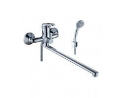 Смеситель для ванной Rossinka Серия B B35-32 (хром глянец, с душевым комплектом)