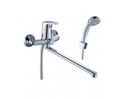 Смеситель для ванны Rossinka Серия D D40-32 (хром глянец, с душевым комплектом)