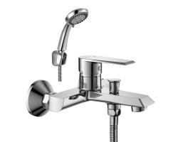 Смеситель для ванны Rossinka Серия RS28 RS28-31 (хром глянец, с душевым комплектом)