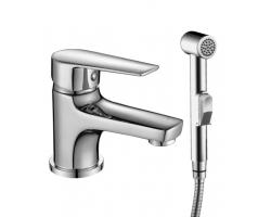 Смеситель для раковины с гигиеническим душем Rossinka Серия S S35-15 (хром глянец)