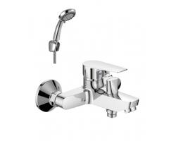 Смеситель для ванны Rossinka Серия S S35-31 (хром глянец, с душевым комплектом)