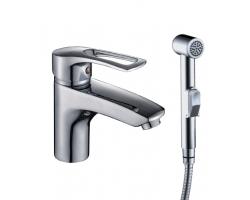 Смеситель для раковины с гигиеническим душем Rossinka Серия T T40-15 (хром глянец)