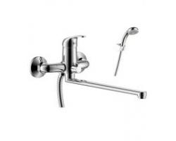 Смеситель для ванны Rossinka Серия Y Y35-32 (хром глянец, с душевым комплектом)