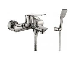 Смеситель для ванны Rush Bering BE5535-44 (хром глянец, с душевым комплектом)