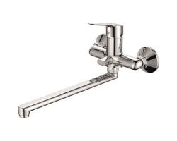 Смеситель для ванны Rush Crete CR3535-51 (хром глянец, с душевым комплектом)
